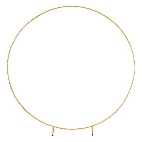 PILIN Riesiges rundes Goldmetall-Ballonbogen-Kit Abnehmbar Leicht zu tragen und wiederverwendbar Beste Dekoration für Party-Events (∅2.6M/8.5FT)