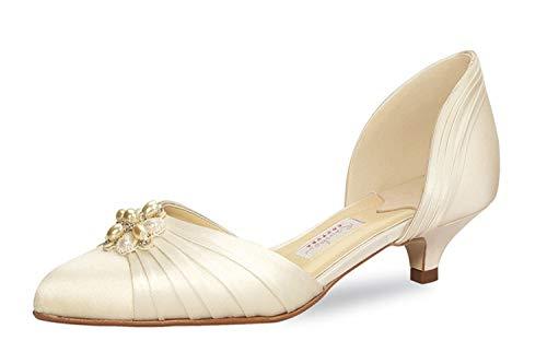 Brautschuhe mit Perlen in Ivory