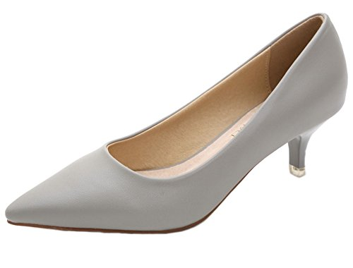 Braut-Pumps in Grau