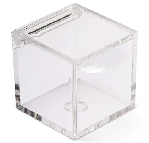 Kartonage Gastgeschenk Plexiglas transparent 5x 5x 5, Box 50Stück für Hochzeit, Taufe, Kommunion, Partys, etc.