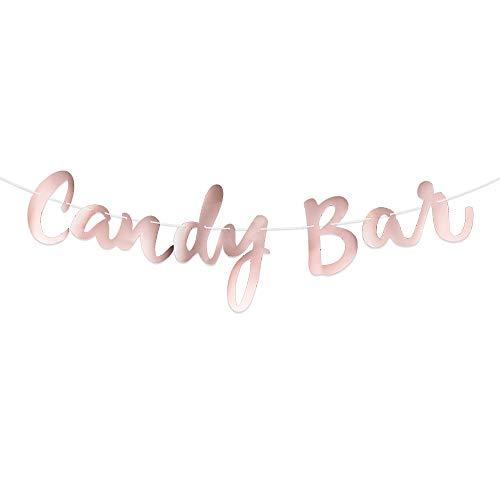 Candy Bar Banner in Roségold