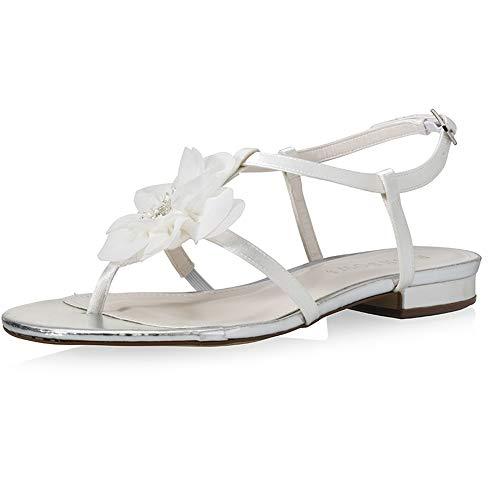 Braut-Sandalette mit flachem Absatz