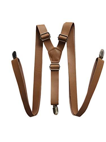 Braune Hosenträger aus Leder