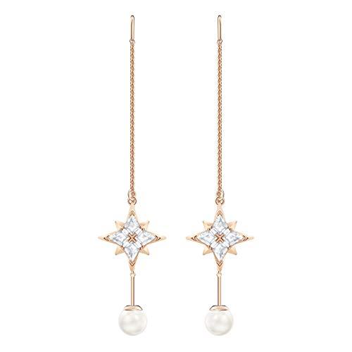 Lange Braut Ohrringe mit Perlen