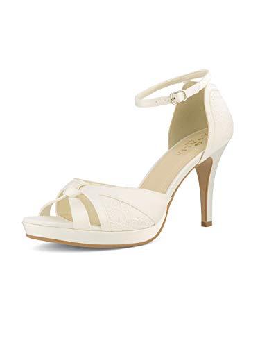 Braut-Sandalen mit Spitze