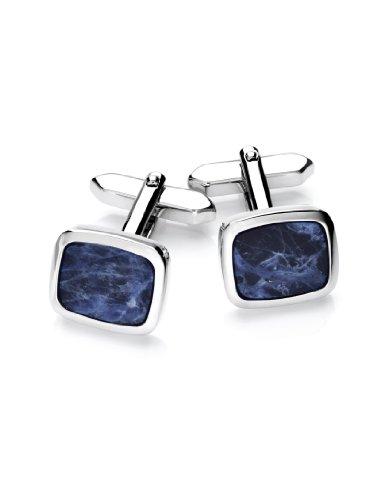 Elegante Manschettenknöpfe in Blau-Silber