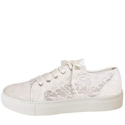 Spitzen Braut-Sneaker in Ivory