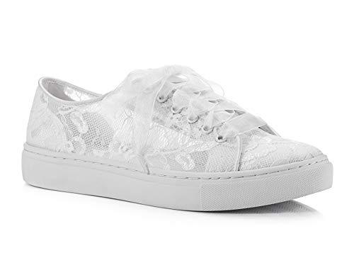 Brautschuhe Sneaker mit Spitze