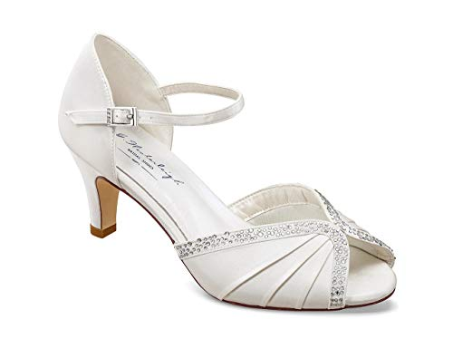 Peeptoe-Braut-Sandalen mit Strass
