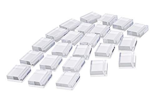 Kartenhalter aus Acryl, 24 Stück