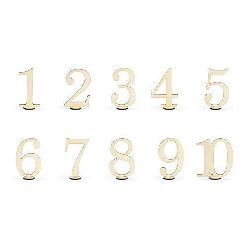 Tischnummern Holz