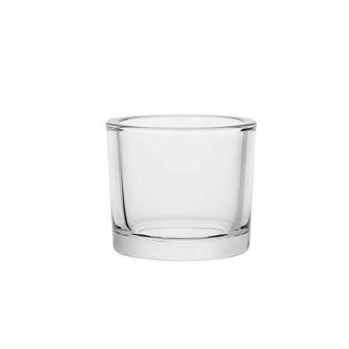6 moderne zylindrische Teelichthater 248 ml