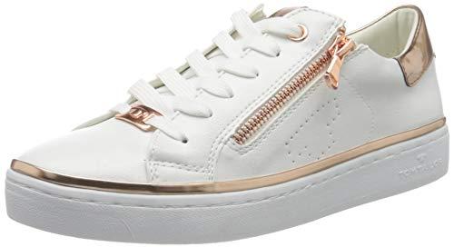 Weiße Braut-Sneaker mit Roségold