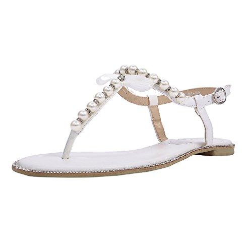 Braut-Sandalen mit Perlen