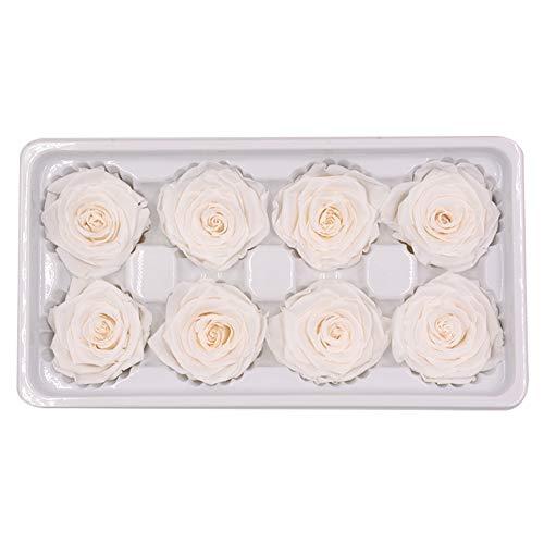 8 weiße Rosen je 4-5 cm Durchmesser