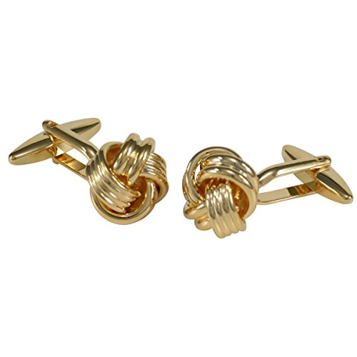 Goldene Manschettenknöpfe in Knotenform