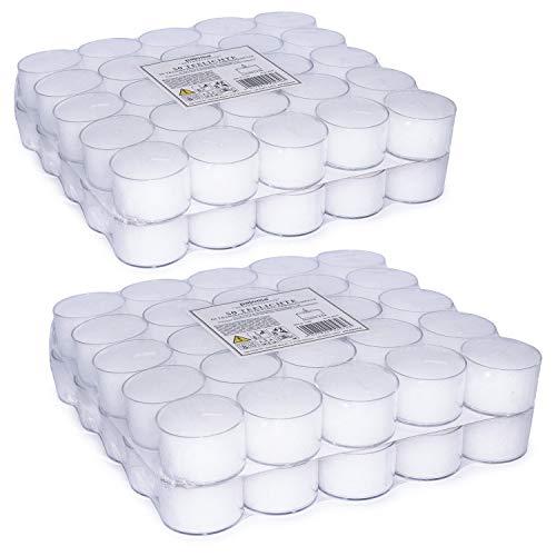 50 transparente Teelichter | 8 Stunden Brenndauer
