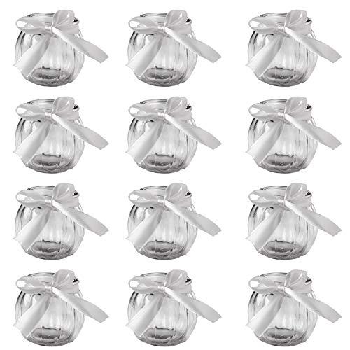 12 bauchige Teelichthalter ca. 7,1 cm