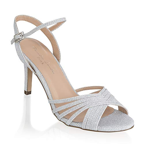 Silberne Brautschuhe Sandaletten