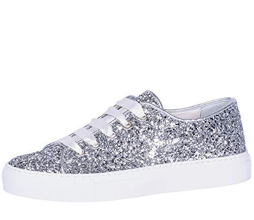 Silberne Braut glitzer Sneaker