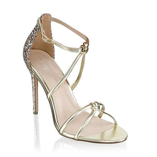 Braut-Sandalen mit Glitzer
