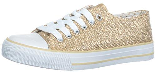 Flache Braut-Sneaker in Ivory mit Glitzer