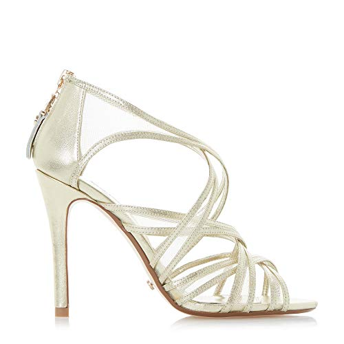 Goldene Braut-Sandalen mit Riemchen