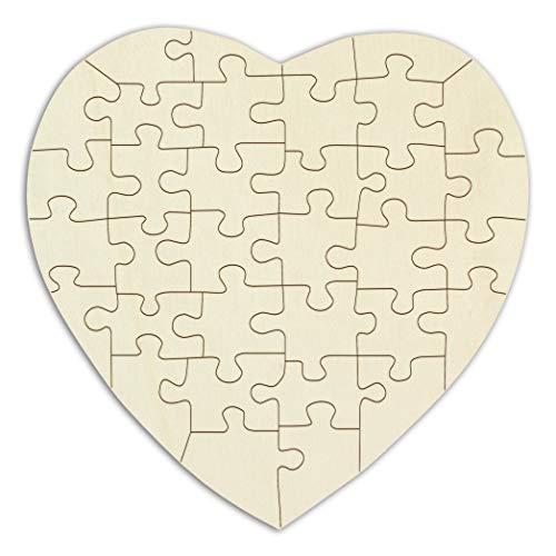 Holzpuzzle Herz aus Schichtholz