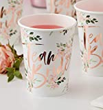 Ginger Ray Team Bride Floral Paper Cups - Floral Hen Range by