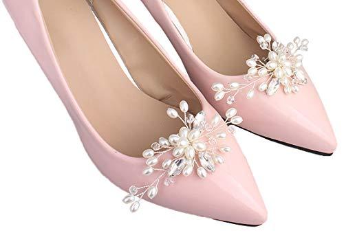 Schuhclipse Blütenranken mit Perlen