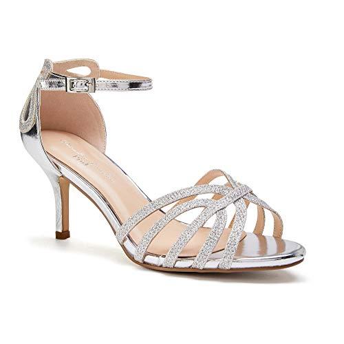 Brautschuhe Sandaletten mit Glitzer
