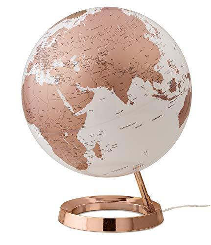 Moderner Globus in Roségold
