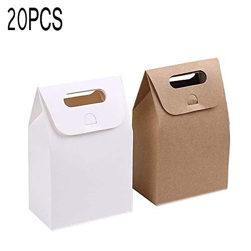 20 kleine Boxen in Weiß und Braun