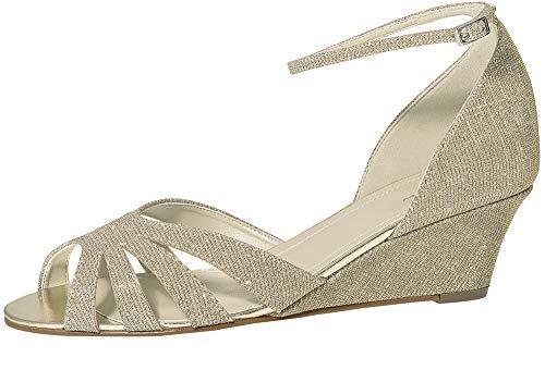 Braut-Sandalen mit Keilabsatz