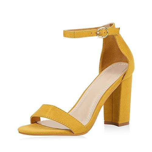 Braut-Sandalen mit Blockabsatz