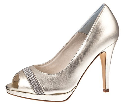 Peeptoe-Braut-Pumps