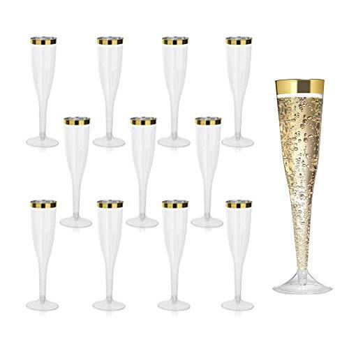 JGA Deko: 30 Gläser mit Goldrand