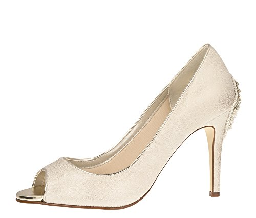 Braut-Pumps in Champagner