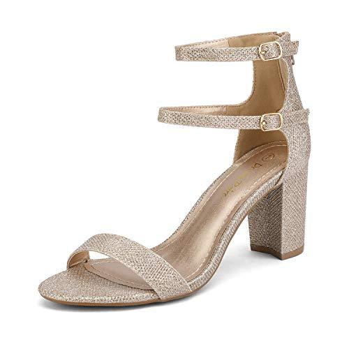 Braut-Sandaletten mit Knöchelriemen