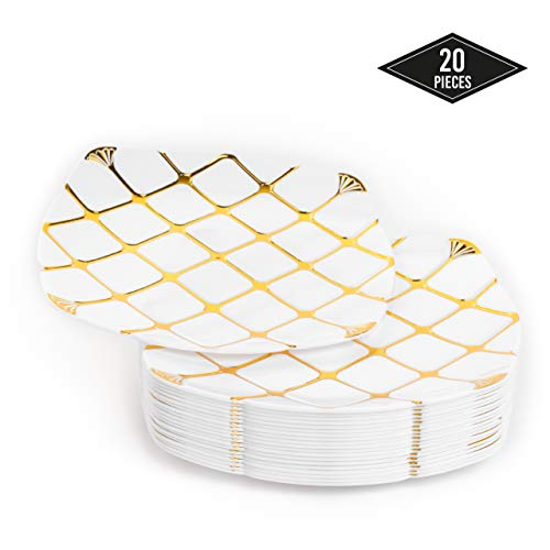 Junggesellenabschied Deko: 20 goldene Pappteller