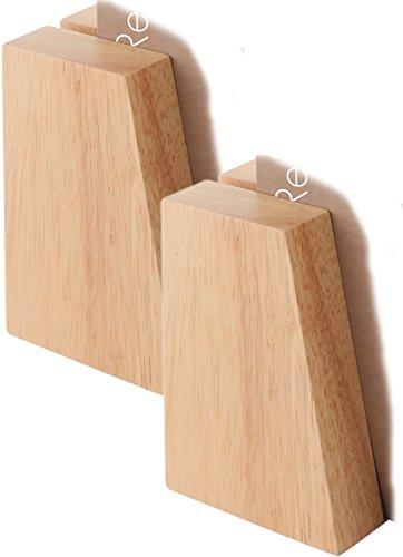 Außergewöhnliche Kartenhalter aus Holz, 4 Stück