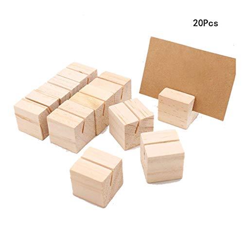 Schmale Kartenhalter aus Holz, 20 Stück