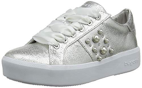 Silberne Braut-Sneaker mit Perlen