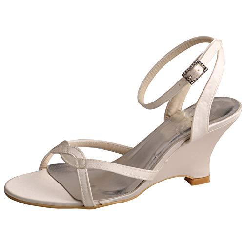 Braut-Sandaletten in Ivory