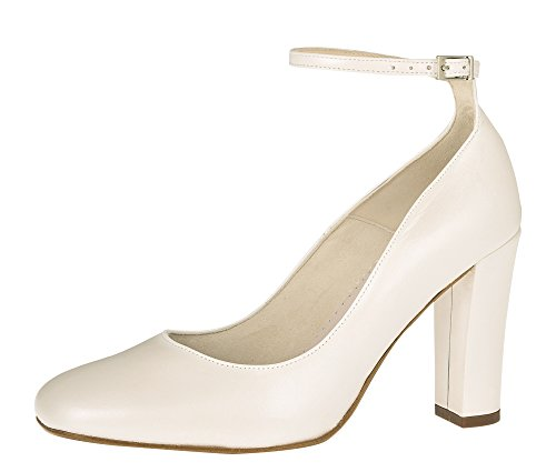 Braut-Pumps in Creme