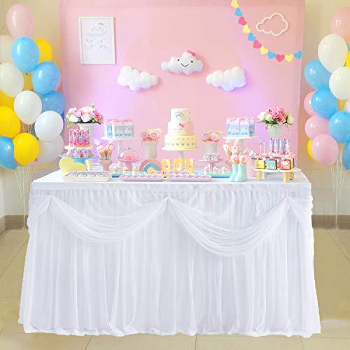 Mehrlagige Candy Bar Tüll-Tischdecke in verschiedenen Farben
