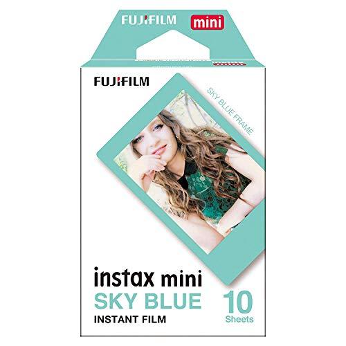 Instax Film mit blauem Fotorahmen