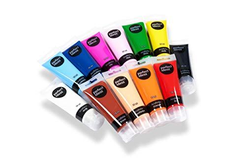 Acrylfarben Set mit 12 Farben