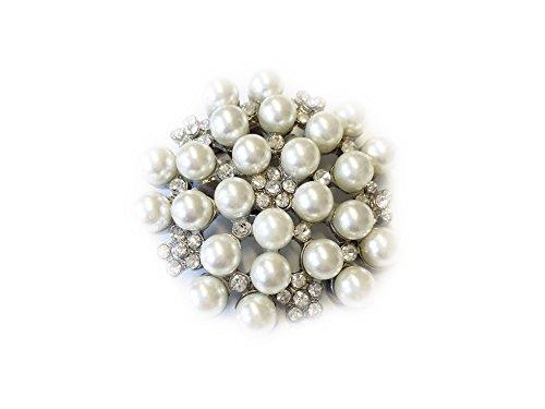 Schuhclips mit Strass und Perlen