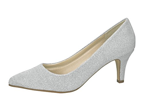 Braut-Pumps in Silber